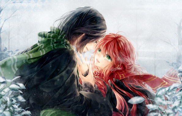 Picture girl, anime, tears, art, guy, two, harry potter, severus snape, lily evans, meiriel