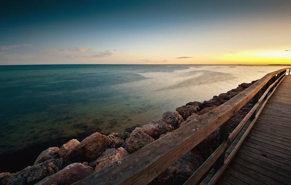 Picture sand, the sky, water, the sun, clouds, landscape, nature, stones, the ocean, sky, ocean, landscape, …
