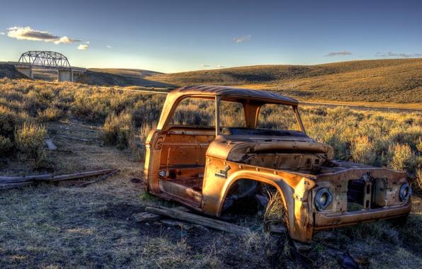 Picture machine, landscape, United States, Montana, Monida