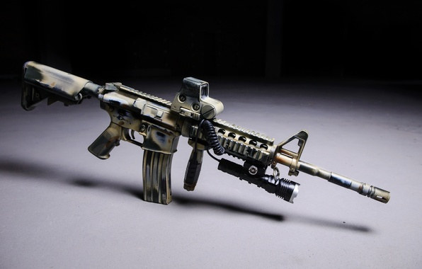 Picture M16, assault rifle, led