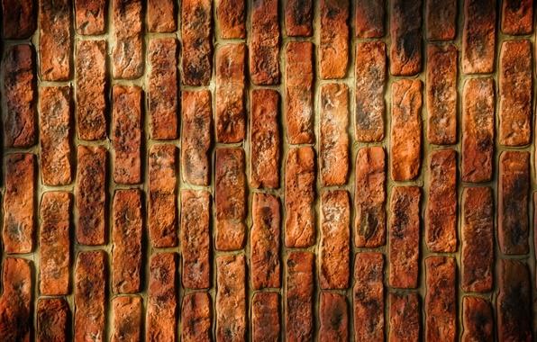 Picture orange, background, brick, texture, vertical
