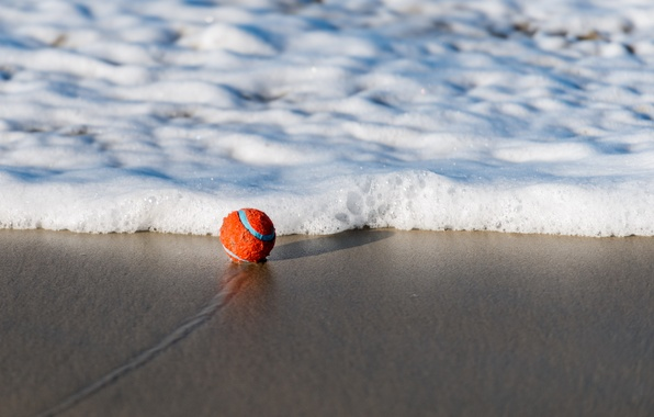 Picture sand, wave, the ball