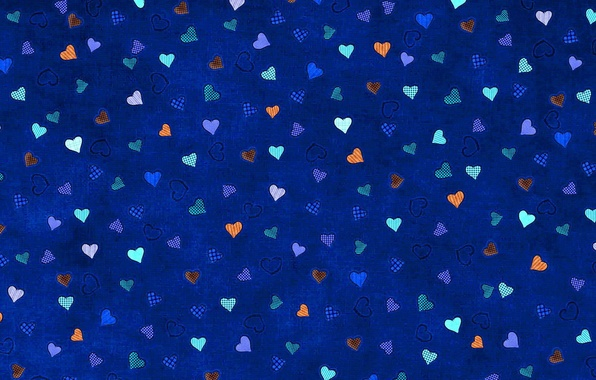 Picture blue, background, hearts