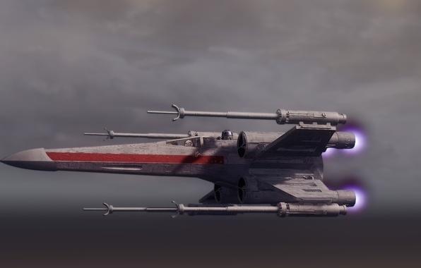 Picture flight, Star Wars, Star Wars, spaceship, X-wing