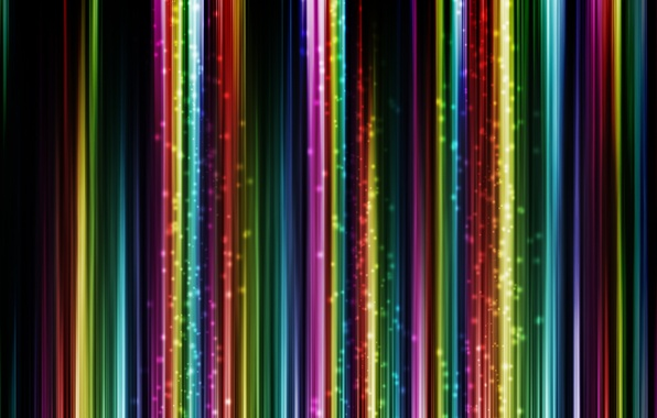 Picture strip, glow, colorful
