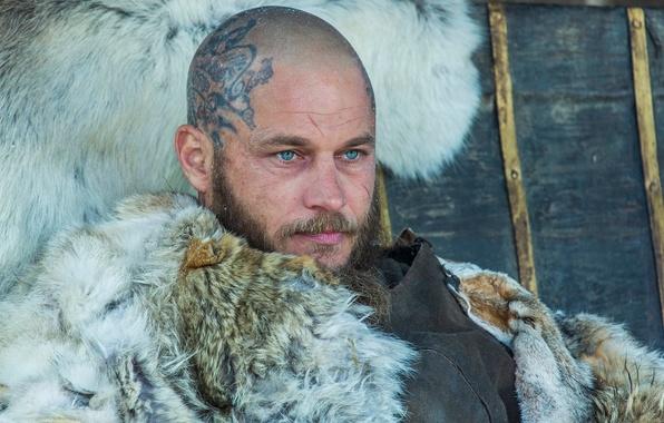 Photo Wallpaper Travis Fimmel The Vikings Face Ragnar Lothbrok