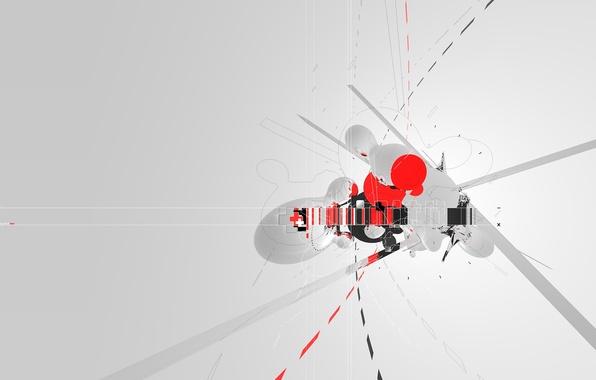 Picture cross, minimal, trance, AMPLIFIER404, cinema 4d, strokes
