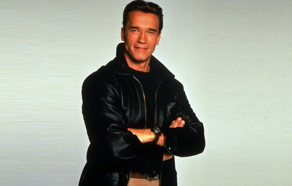 Picture look, watch, man, jacket, actor, Arnold Schwarzenegger, Arnold Schwarzenegger