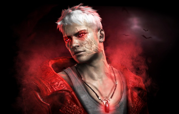 Picture the game, white hair, devil may cry, dmc