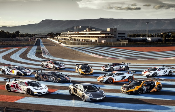 Picture the sky, McLaren, supercar, racing track, MP4-12C, Paul Ricard, MP4-12C, McLaren, Paul Ricard
