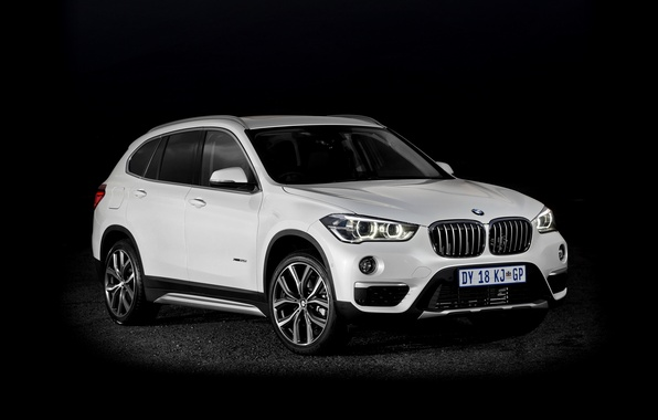 Picture BMW, BMW, black background, crossover, xDrive, F48