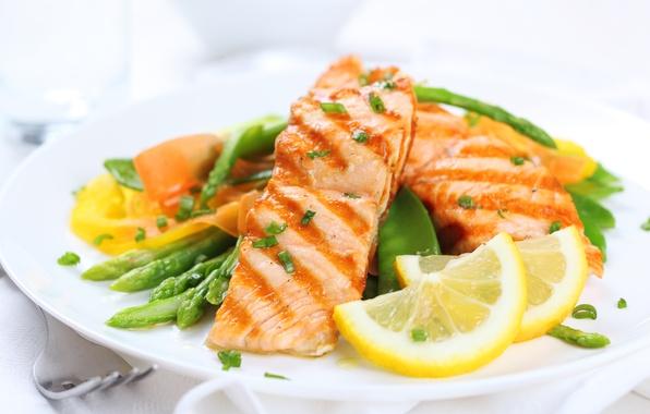 Picture lemon, food, fish, fruit, vegetables, food, fish, garnish