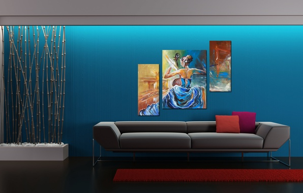 Picture design, style, sofa, interior, bamboo, pictures