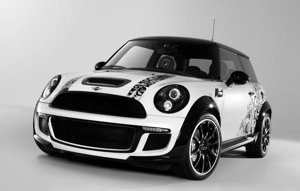 Picture machine, auto, white, airbrushing, drives, black, cars, MINI, mini Cooper, Bully, Cooper S