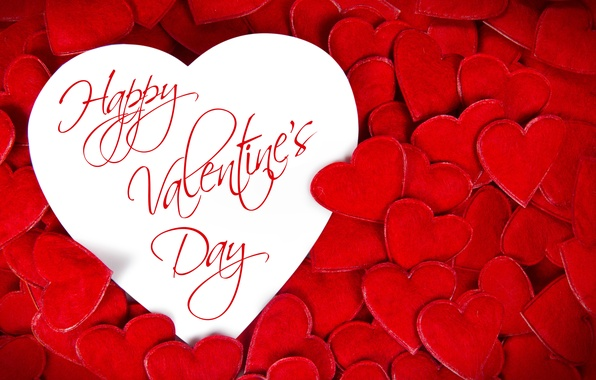 Picture hearts, red, love, heart, romantic, Valentine's Day, Happy