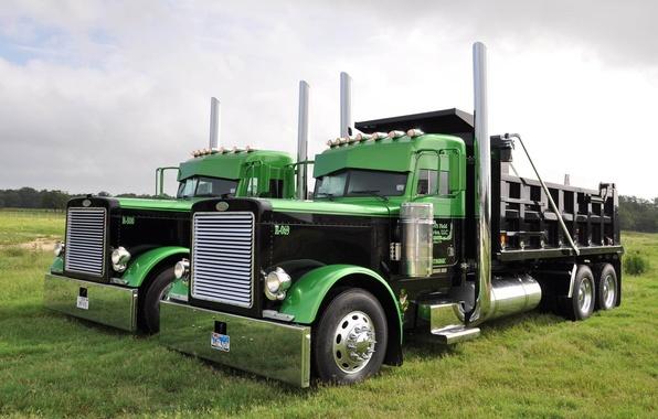Picture truck, chrome, the front, tractor, Peterbilt, Peterbilt