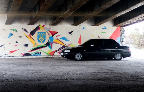 Picture machine, auto, graffiti, Lada, auto, Lada, VAZ, VAZ, BPAN, VAZ-2110, Lada 110