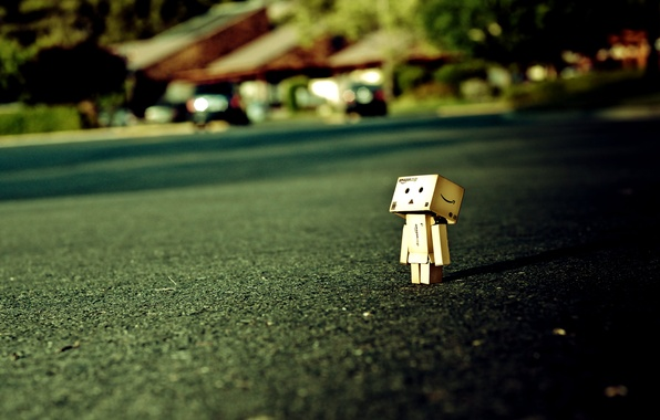 Picture dawn, glade, robot, danbo, Danboard, box, toy