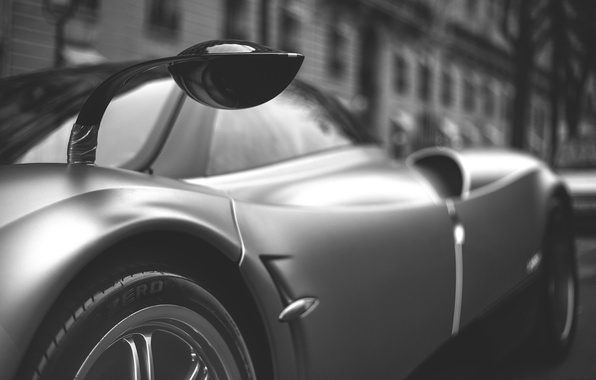 Picture grey, background, Pagani, To huayr