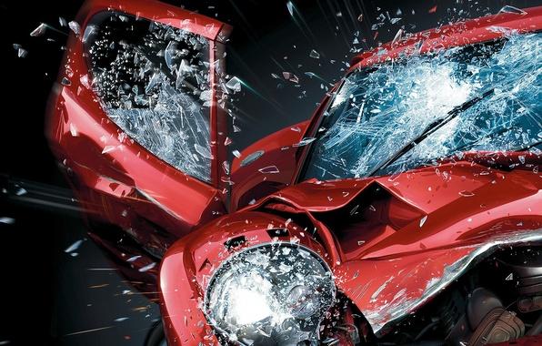 Photo wallpaper car, machine, auto, Burnout, Paradise, crash
