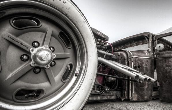 Picture car, machine, power, turbine, hot, classic, rat, rod