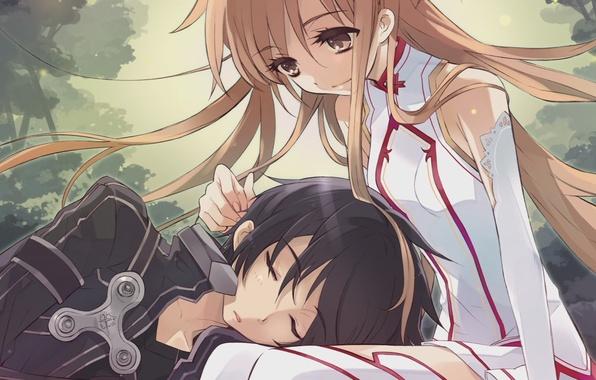 Picture kirito, Sword art online, asuna