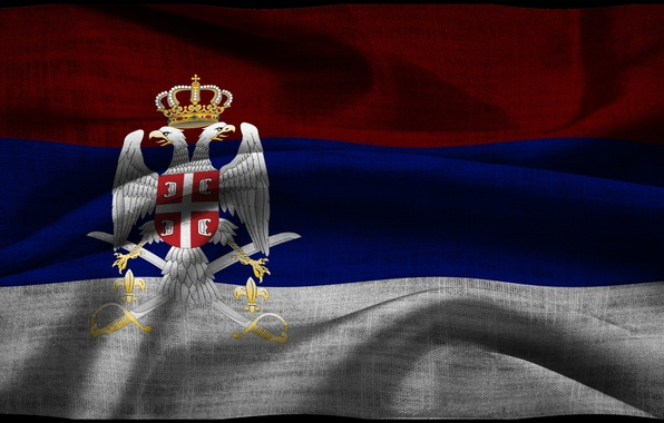 Picture flag, coat of arms, Serbia, Serbia