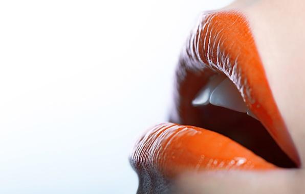Picture teeth, lipstick, lips