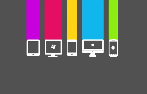 Picture computer, apple, phone, windows, android, color<, cell.color