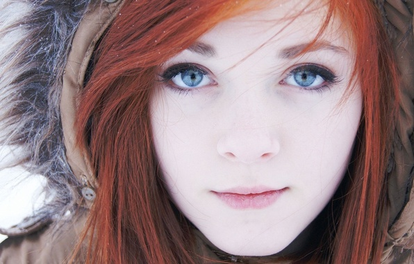 Picture Girl, Look, Lips, Face, Hair, Eyes, Hood, Red, Rose Leslie Ygritte.