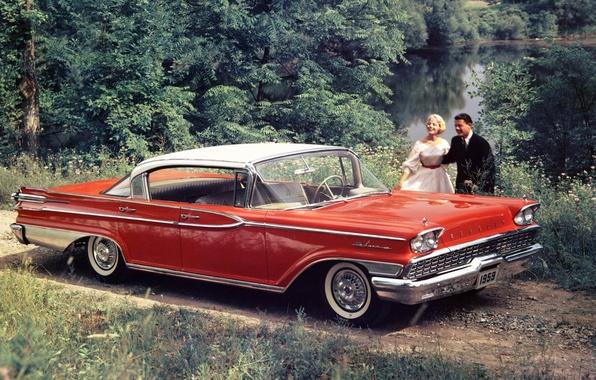 Picture red, people, sedan, the front, Sedan, Hardtop, 1959, Mercury, Mercury, Park Lane