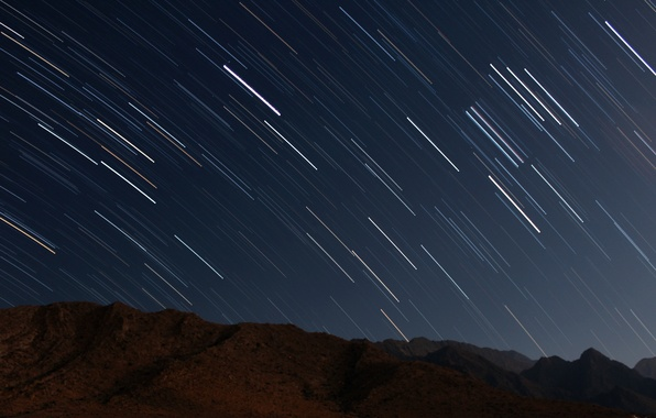 Picture the sky, stars, night, photo, movement, shooting, starry sky, galaxy, long exposure