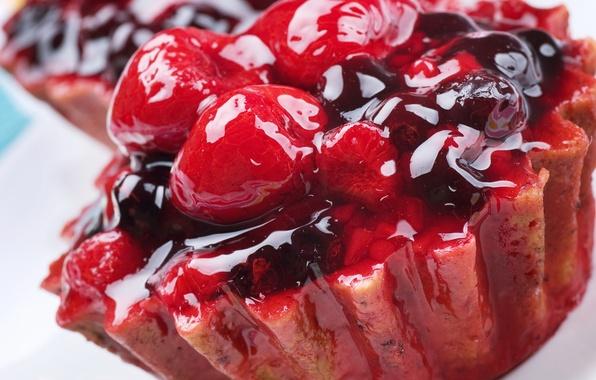 Picture berries, raspberry, food, blueberries, cake, cake, dessert, food, 1920x1200, BlackBerry, sweet, sweet, jam, blueberry, dessert, …