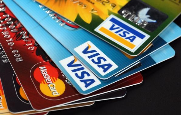 Picture plastic, money, credit cards, Visa