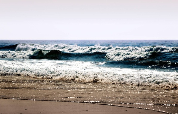 Picture sea, wave, beach, summer, the sky, foam, water, landscape, squirt, shore, sea, ocean, water, beaches, …