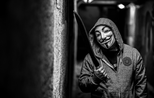 Picture mask, male, anonymous, macheta