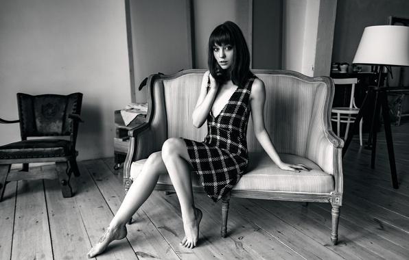 Picture legs, Olya, Olga Pushkina, BW