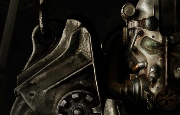 Picture steel, helmet, Paladin, power armor, Bethesda, pauldron, Fallout 4