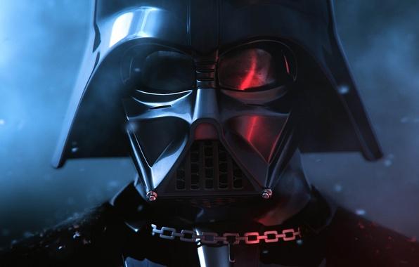 Picture glare, mask, Star Wars, chain, Darth Vader