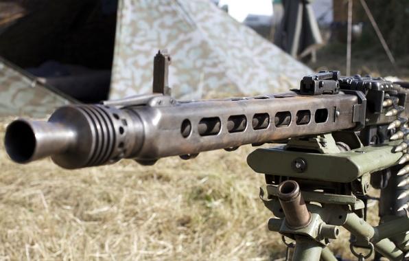 Picture weapons, war, the barrel, machine gun, German, world, Second, times, MG 42, single, (Machine gun ...