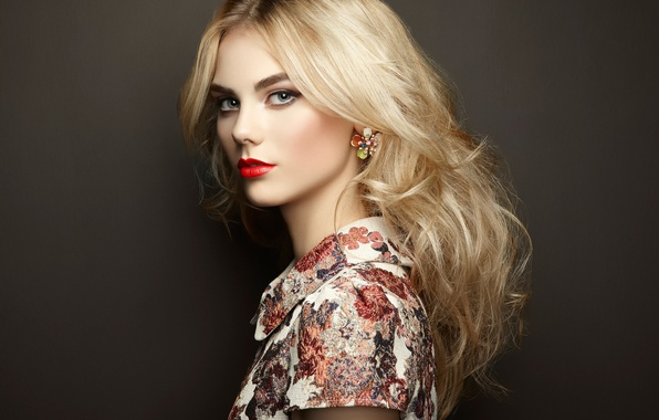 Picture makeup, the beauty, Portrait of beautiful sensual woman with elegant hairstyle