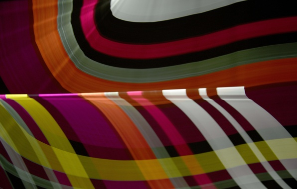Picture rays, line, pattern, color, bending, the volume