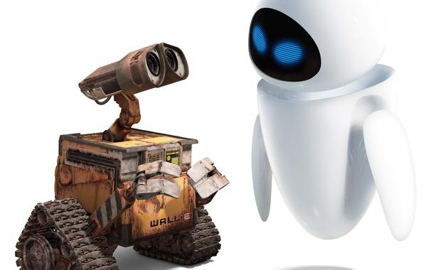 Picture white, love, cartoon, robot, valley