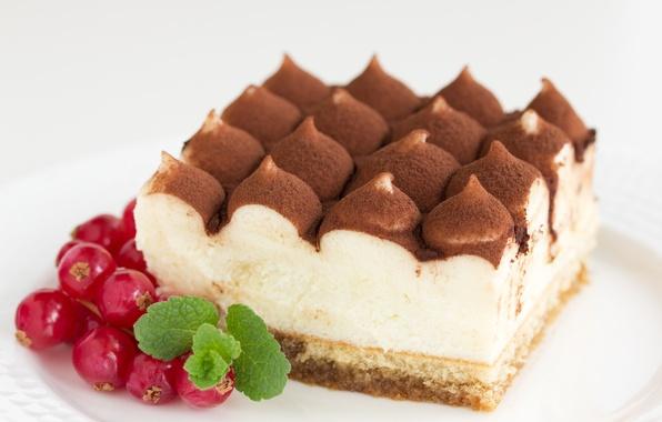 Picture chocolate, cake, cake, cream, dessert, currants, cakes