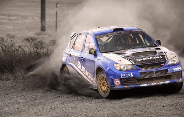 Picture Auto, Blue, Subaru, Impreza, Sport, Machine, Skid, WRX, STI, WRC, Rally, The front