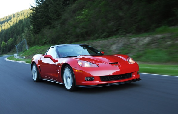 Picture red, Corvette, Chevrolet, ZR1, car, Chevrolet