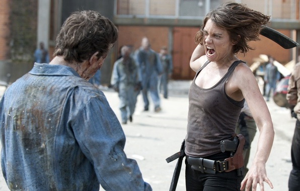 Picture background, actress, zombies, zombie, the series, prison, serial, The Walking Dead, The walking dead, Lauren …