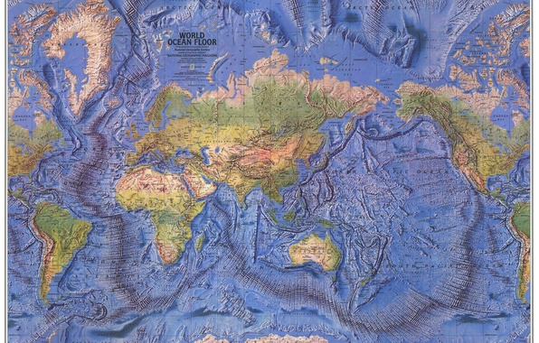 Picture earth, the world, map, continents, Atlas, oceans