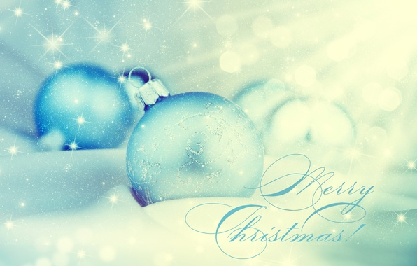 Picture snow, glare, holiday, balls, toys, New year, bokeh, Merry Christmas, Christmas