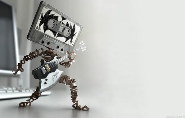 Picture music, drive, cassette, guitar